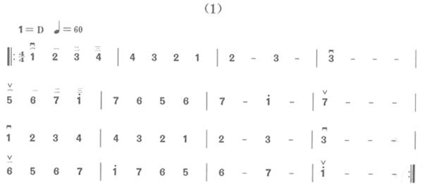 二胡d调(1 5弦)把位练习与简谱大全图片